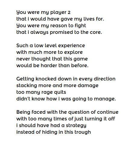 Player 2 -Poem
