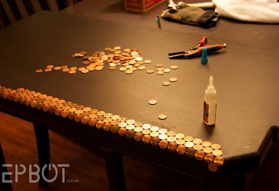 HOW TO DO A PENNY COUNTER TOP!