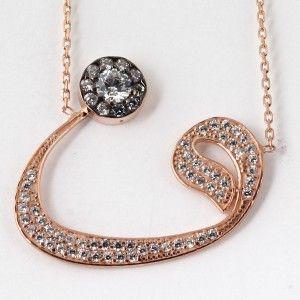 Vav harfli,925 gümüş  bayan kolye
