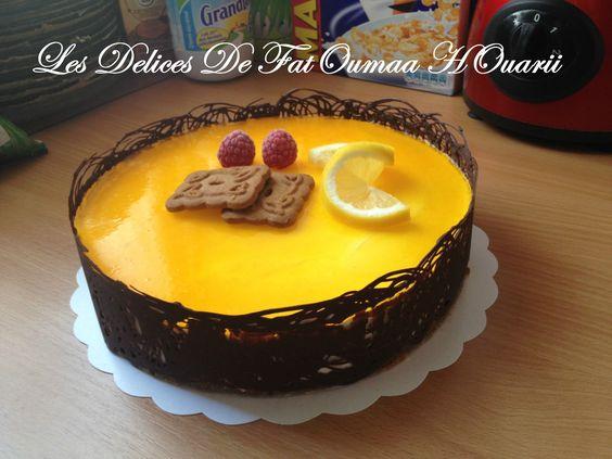 Bavarois Citron insert crème au Citron sur lit Spéculos