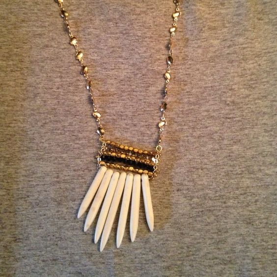 Boho necklace Boho necklace with ivory tusks Pannee Jewelry Necklaces