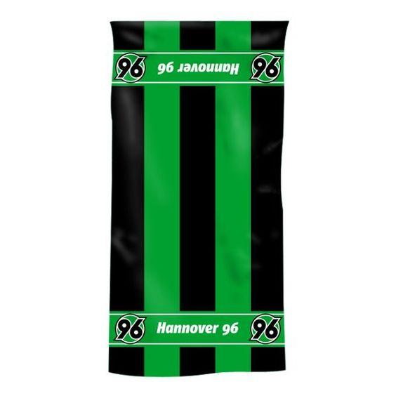 Duschtuch Blockstreifen Hannover 96 - Bundesliga, Badezimmer, Handtuch, Fanartikel - http://www.multifanshop.de