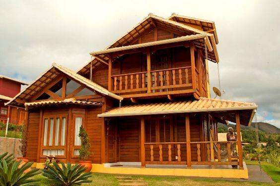 Casas de madeira pré-fabricada - fotos, preços 35