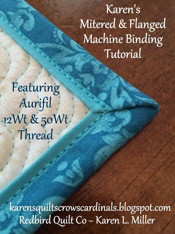 Today I'm excited to share a Mitered & Flanged Machine Binding Tutorial. *** It's fun, saves time and looks awesome!! *** Don't be over...