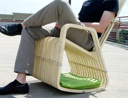 Enjoy the outdoors for the warmer months with this rocking chair built for a dog or cat!