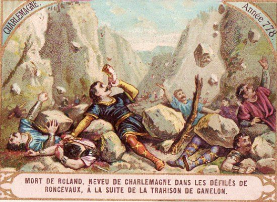 Mort de Roland à Roncevaux le 15 août 778