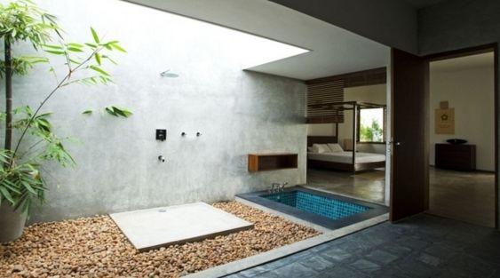 Außendusche - Gartengestaltung mit Dusche im Außenbereich - fresHouse