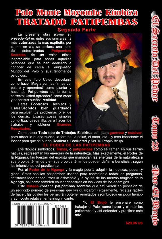 Libro 23  #El Brujo #elbrujo.net #brujo #brujeria #magia #palero #palomonte #kimbiza #palokimbiza #Mayombe