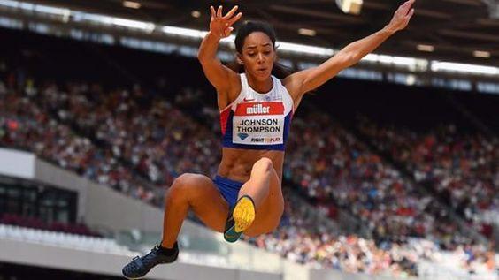 Katarina Johnson-Thompson wins the long jump at the Anniversary Games, beating British rivals Shara Proctor and Jessica Ennis-Hill.
