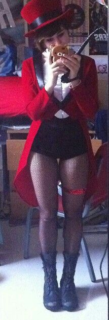 Ringmaster red tailcoat and tophat