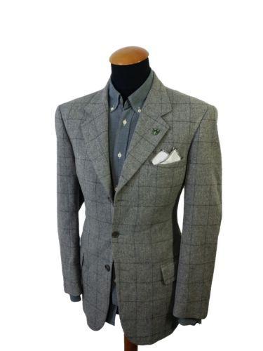 Men&39s Giorgio Varalli size 41R Blazer Bacci Wool Sport Coat Gray