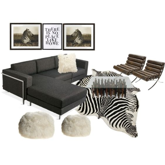 Zebra home Living room moodboard by A-Interior Designs