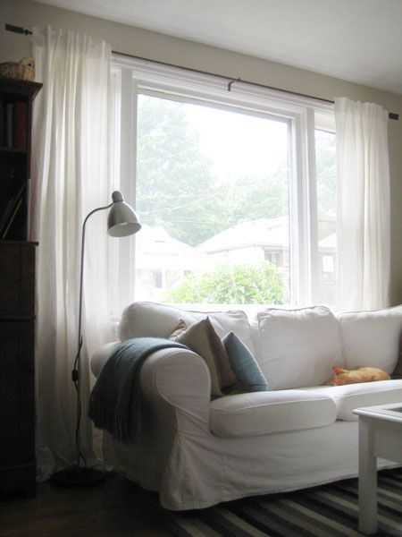 Ikea Ritva Curtains In My BM Edgecomb Gray Living Room | Drapes | Pinterest  | Grey Living Rooms, Living Rooms And Room