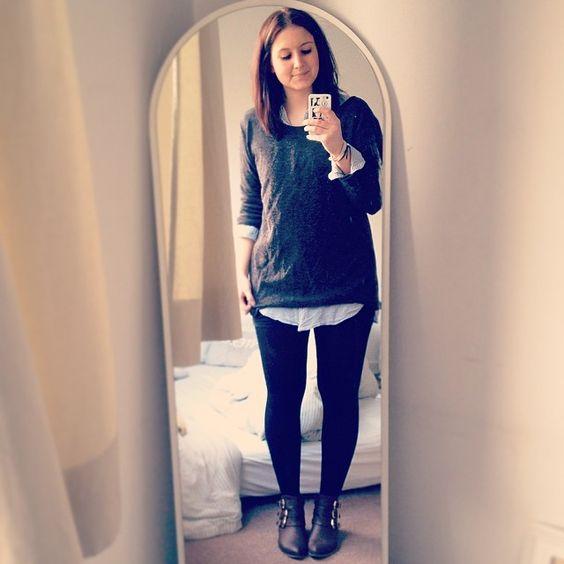 Gestern krank, heute wieder einigermaßen fit & mit neuem #ootd.✌️ // #instafashion #outfitoftheday #fashionblogger_de #dailyoutfit