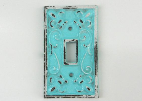 Aqua Switch Plate Cast Iron Covers Decorative Fixture