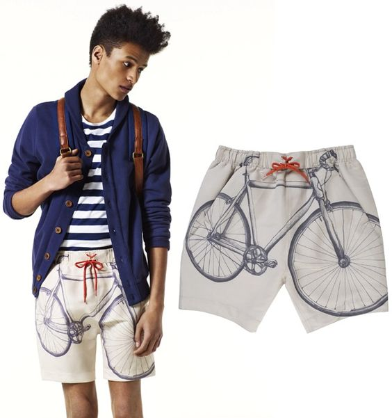 #style #clothes #fashion #shorts #bike #swimming #print