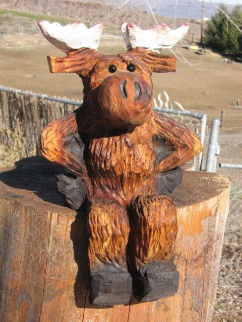 Chainsaw carving patterns moose g