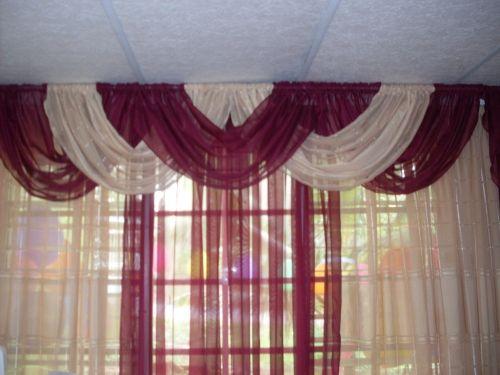 Imagen cortina con cenefa entrelazada for Cenefas para cortinas