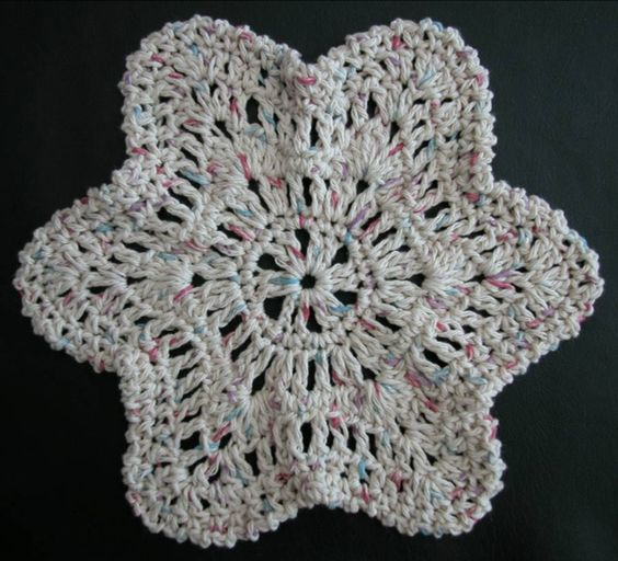 Free Crochet Starfish Dishcloth Pattern : Free crochet dishcloth pattern: Starfish by Drew Emborsky ...