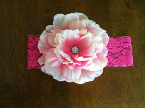 Boutique Pink Flower headband