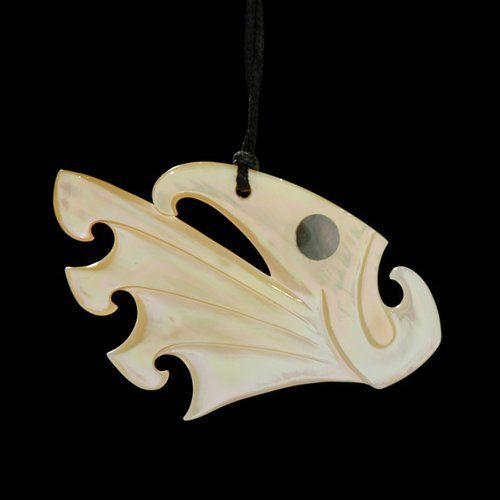 Fish Spiral Pendant by Kerry Kapua Thompson, Māori artist (NZ70904)