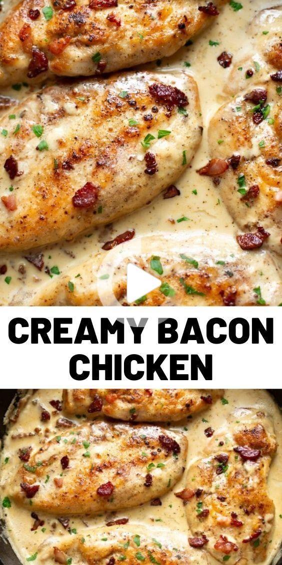 Romige Bacon Recept Van De Kip Chicken Bacon Recipes Bacon Recipes Chicken Recipes