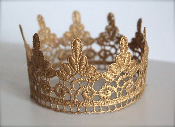 Gold Scalloped Crown for Boy or Girl  Perfect by LilBirdsCouture