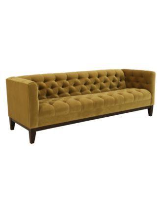 "Natalie Fabric Sofa, 84""W x 30""D x 29""H - Sofas - furniture - Macy's/1300 on sale"
