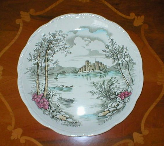 Latest listing, Meakin Queens Castle Plate, £7.00 by Ann Shirley:   Arthur Meakin Queens Castle Plate  measuring 25 cm and in lovely condition with only a very slight glaze defect on the rim which is not noticeable so does not detract from the look of the plate.