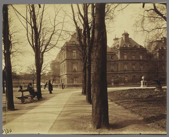 Le Paris de 1900 par Atget - Jardin du Luxembourg