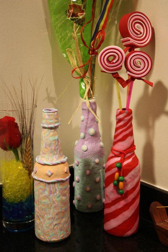 Botellas decoradas manualidades d a de la madre pinterest - Botellas decoradas manualidades ...