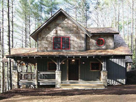Plan 18766ck Fabulous Wrap Around Porch Cabin Barn