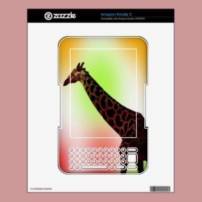 Pastel Giraffe kindle skin