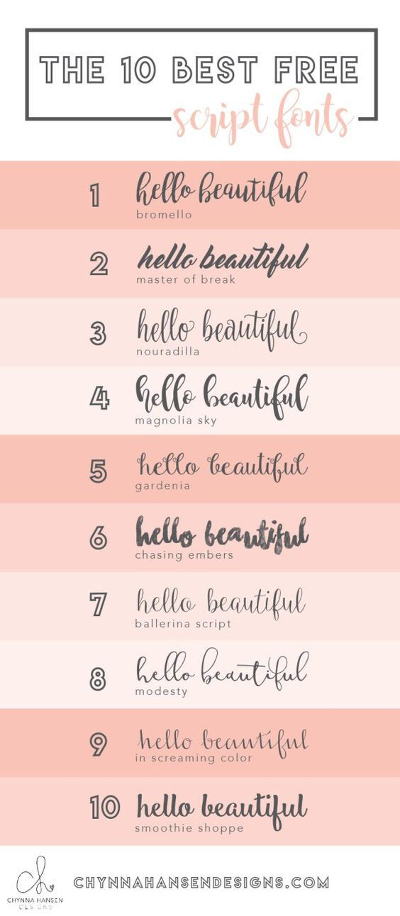 The most amazing script fonts...and they are all FREE!!!