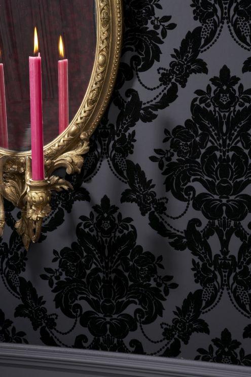 Black Velvet Wallpaper | Sophie Conran for Arthouse Wallpaper