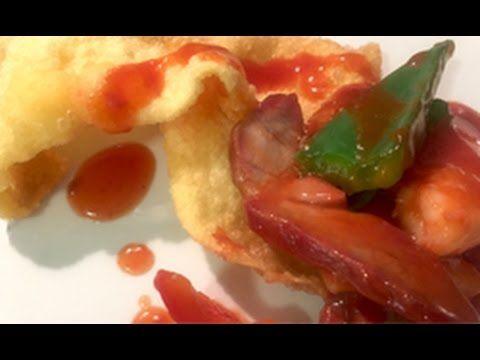 Deep Fried Wontons with Sweet and Sour Sauce 錦鹵雲吞