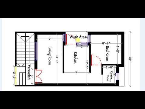 450 Sq Ft 1bhk Best House Plan New House Plans House Plans Best House Plans