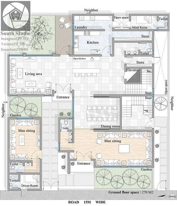 تصميم فيلا سكنية خاصة مساحة الدور الارضي ١١٩م٢ فقط نمط التصميم المعماري حديث محايل عسير تصميم تصميم داخلي New House Plans House Layout Plans House Plans