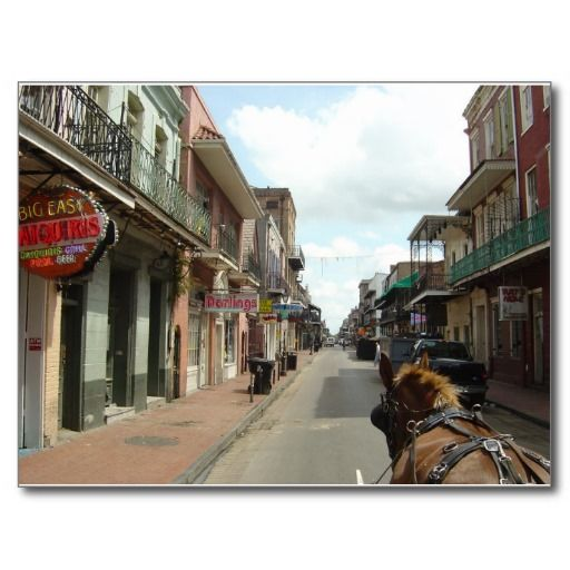 New Orleans French Quarter Postcard