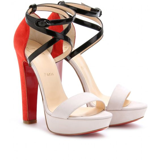 These Christian Louboutin sandals are GORGEOUS!!!