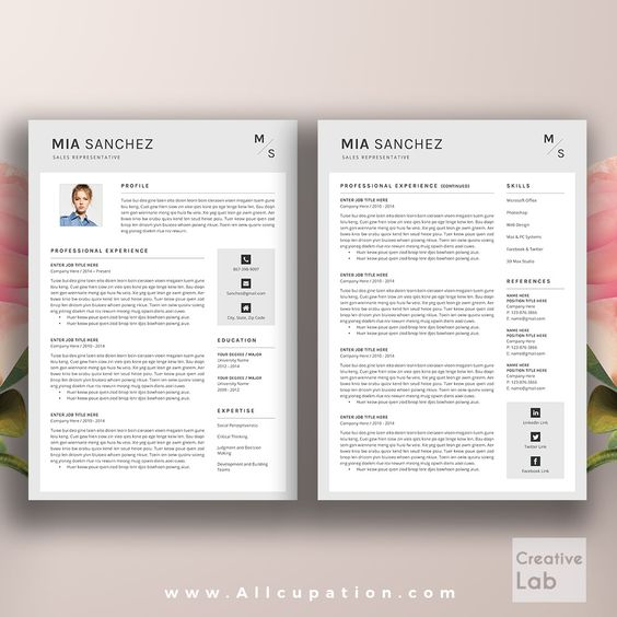 Simple, Teacher resumes and Products on Pinterest - resume template download mac