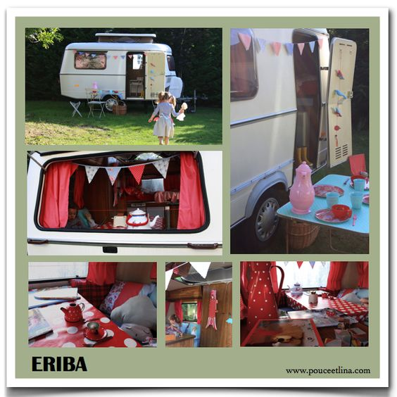 caravan trailer cabanes pinterest t maison et caravanes vintage. Black Bedroom Furniture Sets. Home Design Ideas