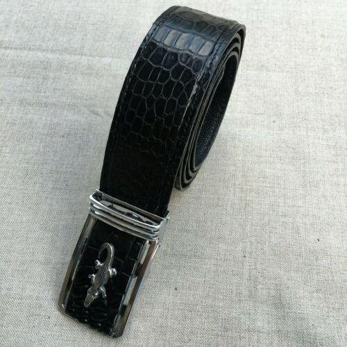 Genuine handmade ALLIGATOR Leather Skin Men/'s Belt Black No Jointed