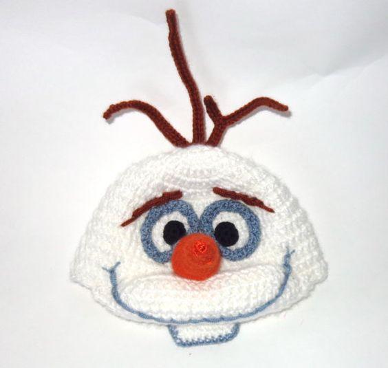 Olaf Snowman Frozen Crochet Hat  Disney Hat by KernelCrafts, $22.00