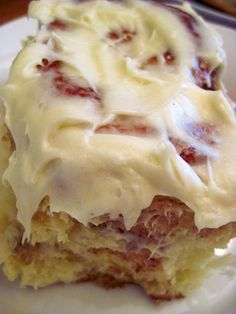 warm, gooey cinnamon rolls with cream cheese icing,