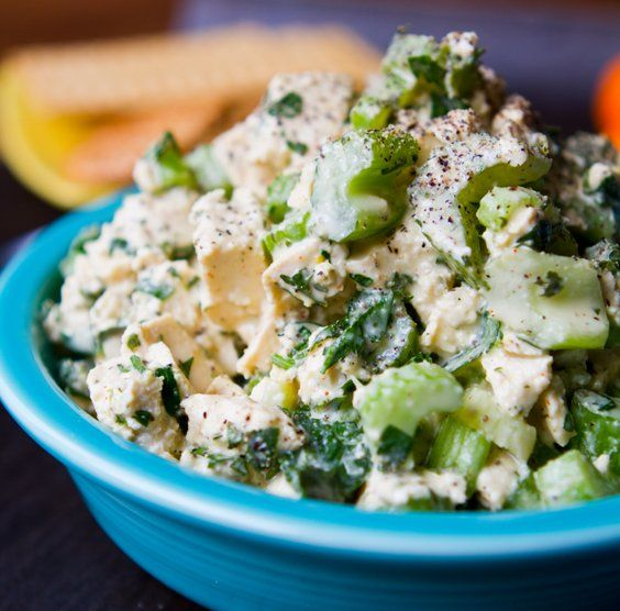 Easy Tofu Crunch Salad! Truly easy. Superb in sandwich form or just straight out of the bowl. We have no shame.
