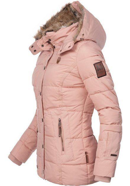 Winterjacke Nekoo Stylische Damen Steppjacke Mit Grosser Kapuze In 2020 Winterjacken Jacken Steppjacke