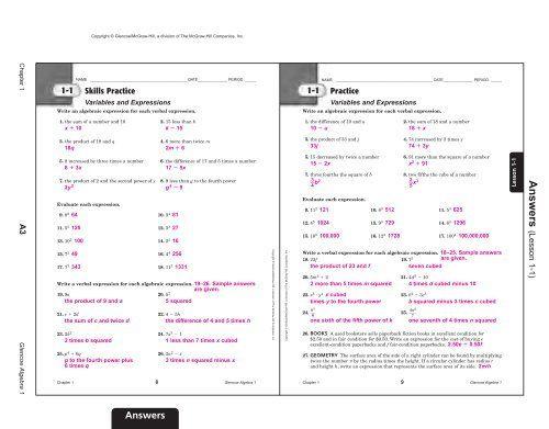 Holt Pre Algebra Homework And Practice Workbook Answer Key In 2020 Math Worksheets Algebra Book Quizzes