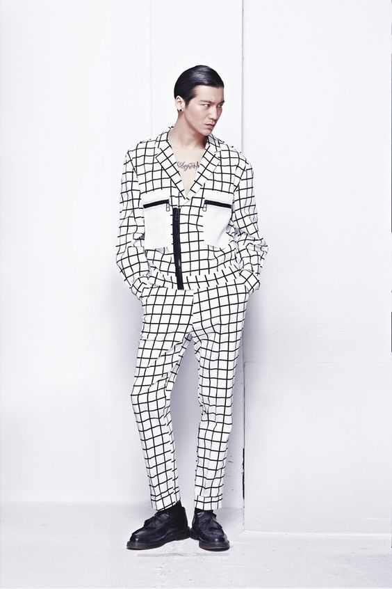 B&W Check Printed Jacket by PATH in #WeAreSelecters Stores