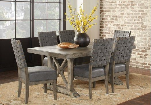 Picture Of Bristow Charcoal 7 Pc Rectangle Dining Room From Dining Room Sets Furniture Dining Room Sets Round Dining Room Dining Table Dimensions